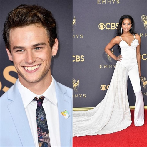 13 Reasons Why stars Brandon Flynn and Ajiona Alexus