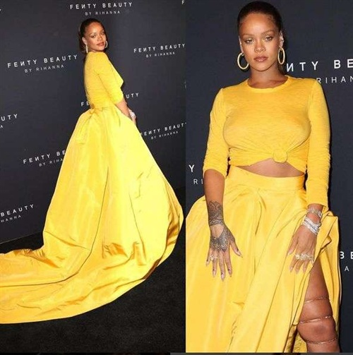 Foto: Rihanna bei der NYFW. Quelle: Just Jared/ Instagram